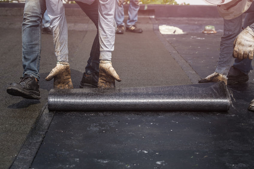 flat roofing install